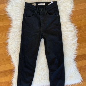 Levi's black Mile High Skinny jeans